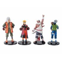 Bonecos Naruto Shippuden Coleção 4 Peças Jiraya Kakashi