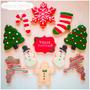 Galletas Cookies Decoradas Navidad Noche Buena Fiestas