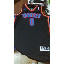 Camiseta Nba Westbrook Ocklahoma City Thunder Negra Talle Xl