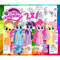 Kit Imprimible Libritos My Little Pony Imprimir Y Pintar