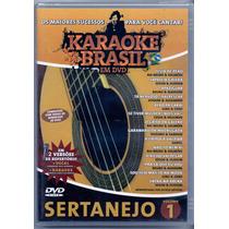 Dvd Karaokê Brasil - Sertanejo Vol. 1 - Novo***