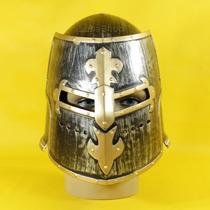 Capacete Medieval / Capecete De Gladiador Cinza E Dourado