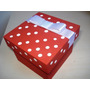 Lembrancinha Nascimento Caixa Mdf Vermelha Com Laço Branco