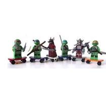 Lego Tartaruga Ninja Kit Com 6 Bonecos + Skate + Pizza
