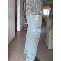 Pantalon Cargo Caballeros Color Verde Talla 32 Navidad