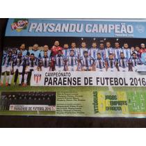 Poster Placar Paysandu Campeão Paraense 2016 Avulso 42x27cm