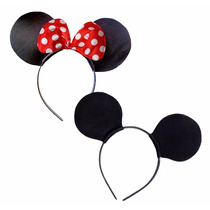 Tiara Orelha De Minnie Mickey Kit C/ 20 Unidades Menor Preço