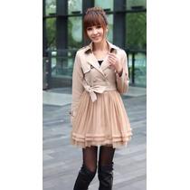 Gabardina Vestido Falda Moda Asia Entrega Inmediata