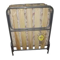 Cama Catre Plegable Con Colchón Reforzado 1,85 X 0,80