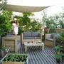 Sillones De Madera Con Almohadones Ideal Jardin Patio Deck