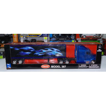 1:43 Peterbilt Model 387 Azul C Caja Seca Trailer New Ray
