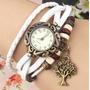 Reloj Pulsera Dama Mujer Manilla De Cuero Vintage 25 Diseños