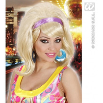 60s Peluca Disfraz - Señoras 50s Rubia Mod Go Go Girl Fancy
