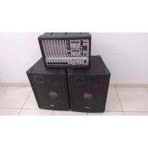 Mixer Behringer Pmh 880s + 2 Caixas Wgk