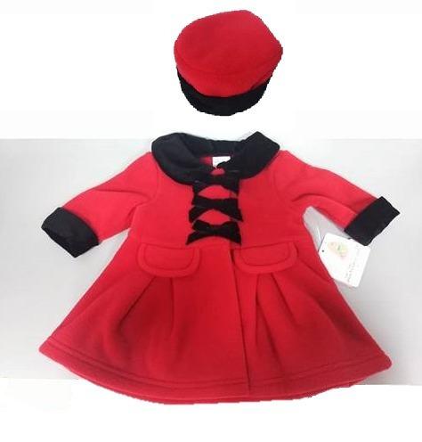 b5bfa3b34 Abrigo Rojo Y Terciopelo Negro Fiesta 3 Y 6 Meses Envio Grat -   619.00 en  Mercado Libre