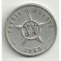 Moneda Cuba 20 Centavos (1969)