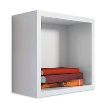 Nicho Com Fundo 28x28x15 Cm-100%mdf 15mm Branco- Decorativo