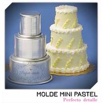 Envio + Molde Mini Pastel 3 Pisos Cupcake Mesa De Dulces