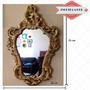 Espelho Moldura Em Gesso 70x45 Cm