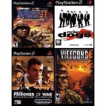 Reservoir Dogs Para Playstation 2 (kit 4 Jogos Ps2 Guerra