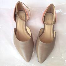Zapatos De Cuero Flats Mujer Plomo Naranja Elle Aldo Hym Tac
