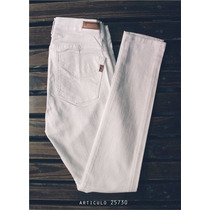 Jeans Blanco Elastizado Chupin Marca Nahana Talle 44/46