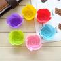Kit 6 Unid Forma Silicone Flor Cupcake Petit Gateau