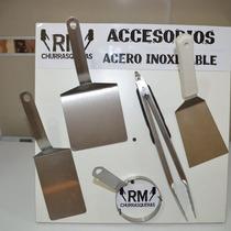 Set (5) Accesorios P/pancha Bifera A.inox- Churrasqueras Rm