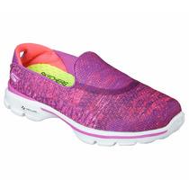 Zapatos Skechers Para Damas Go Walk 3 Glisten 14057 - Pnk