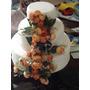 Bolo Casamento Fake Com Cascata De Flores Locação Sp Abc
