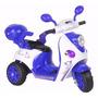 Moto Scooter Bateria 6v Luces Sonidos Colores 12 C S/r Ch