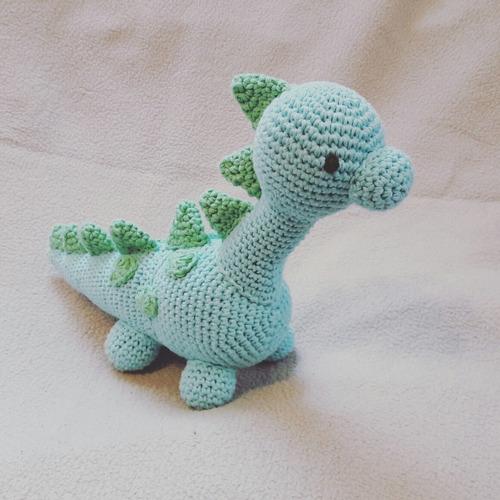 Amigurumi Dinosaurio Tejido Al Crochet - $ 320,00 en Mercado Libre