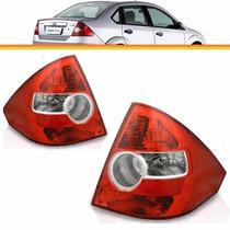 2 Lanterna Fiesta Sedan 2004 2005 2006 2007 2008 2009 Esq/di