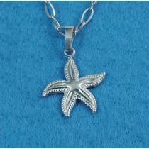 Dije Estrella De Mar Plata Fina Ley.925 D38