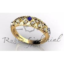 Anel De Formatura Ouro 18k E Diamantes Todos Os Cursos!