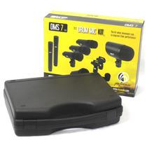 Kit Microfone Skp Dms7 Para Bateria