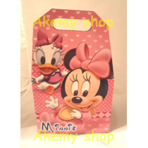 Baby Minnie Mouse 10 Loncheras Dulceros Articulos De Fiesta