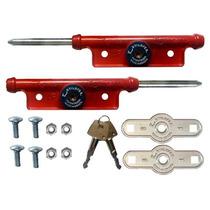 Trava Porta Aco Lateral Tetra Aluminio Comércio Seguro 1 Par