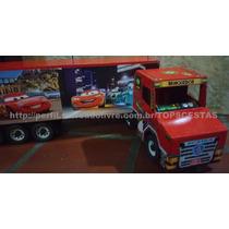 Caminhão Madeira Artesanal Carros Disney Mcqueen Brinquedo