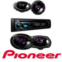 Kit Pioneer Aparelho Deh-x1880 + 4 Alto Falantes Pioneer