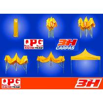 Carpa 3h 2x2 Estructura Aluminio + Techo Qpg Team