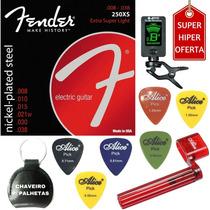 Encordoamento Guitarra 08 038 Fender 250xs + Acessórios A01