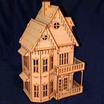 Casinha Casa De Boneca Em Mdf - Polly - Grátis 28 Móveis