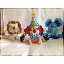 Kit Com 35 Centros De Mesas Circo, Palhaço, Elefante, Macaco