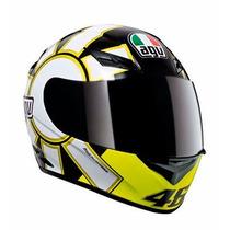Casco Integral Agv K3 Top Gothic 46 Black Urquiza Motos
