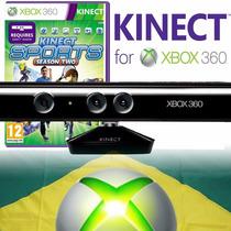 Kinect Sensor Xbox 360 Slim Orig Refurbished + Jogo Original