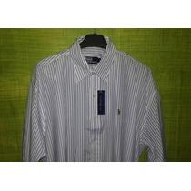 Camisa Social Ralph Lauren Masculina Em Listras Tm G