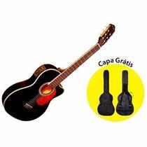 Violão Di Giorgio Havana Black Cordas De Nylon C/ Equalizado