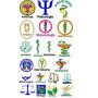 Matriz De Bordado Profissões,símbolos -completo 205 Matrizes
