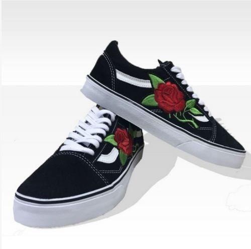 d874e0301b8 Tênis Vans Old Skool Preto Rosa Customizado Promoção - R  239